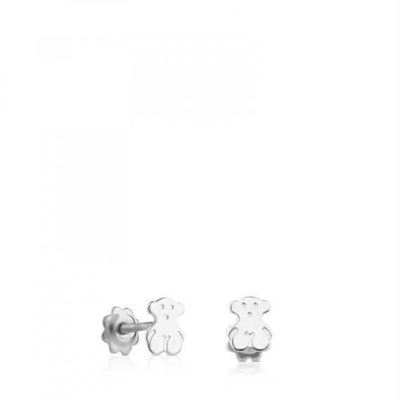ホワイトゴールドのピアス Baby TOUS(311001433)