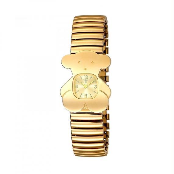 ゴールドのステンレス IP 腕時計 Tous(300350505)