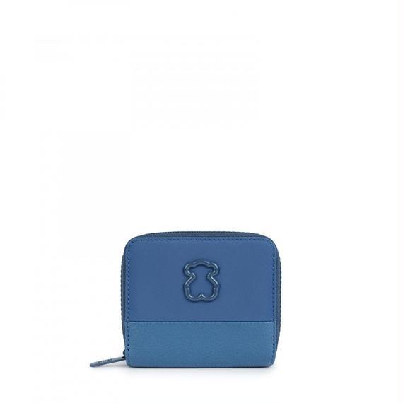 ブルーのナイロン製小型ウォレット Laina(895960205)