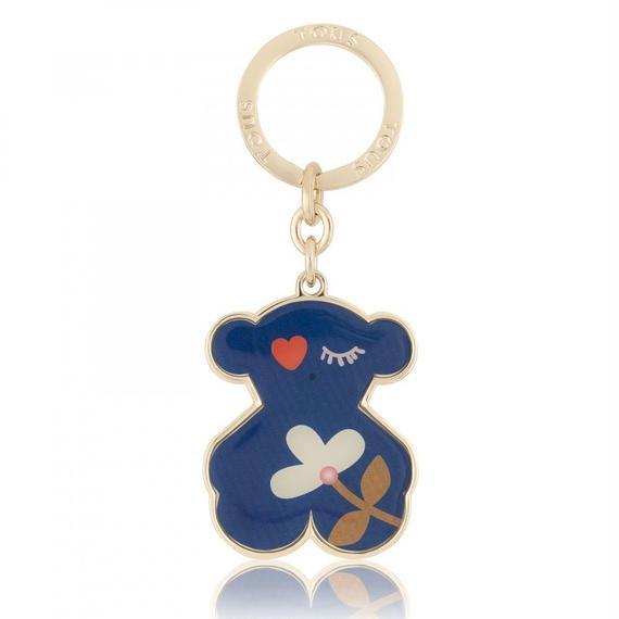 ブルーのキーホルダー Patch Art(895960135)