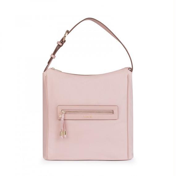 ピンクのナイロン製サックバッグ Brunock Chain (895890283)