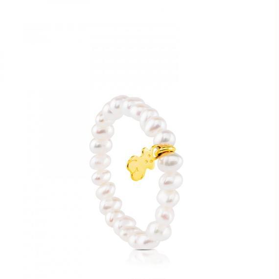 ゴールドにパールが付いたリング TOUS Pearl(517095030)
