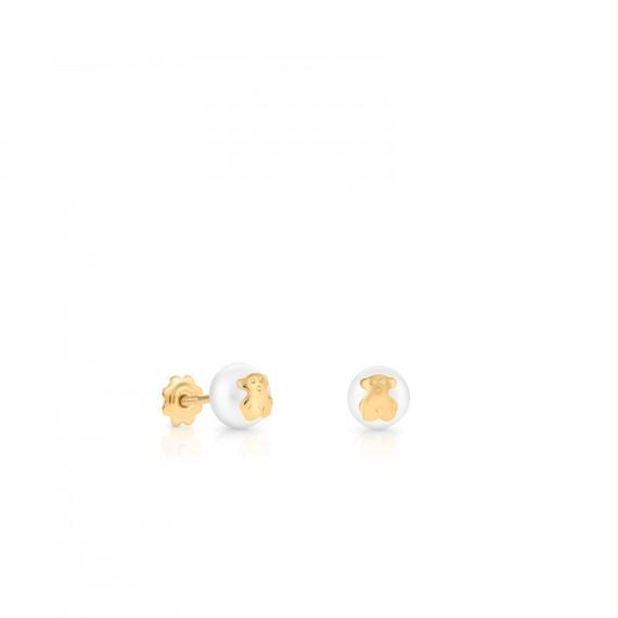 ゴールドのピアス Baby TOUS(611003201)