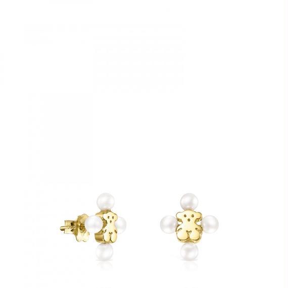 ゴールドとパールのピアス XXS(812783040)