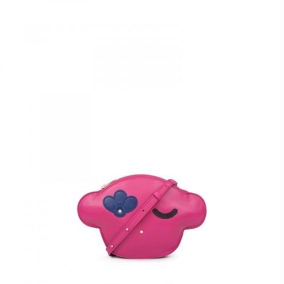 フューシャピンクの革製ショルダーバッグ Whim (795900285)