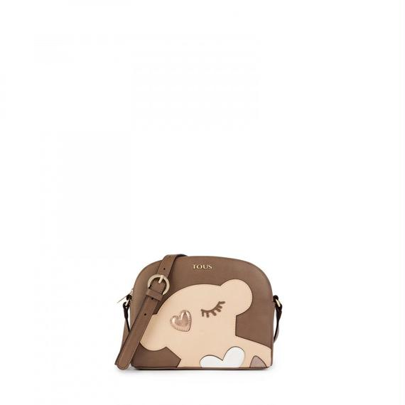 トープ色のショルダーバッグ Patch Art(895890140)