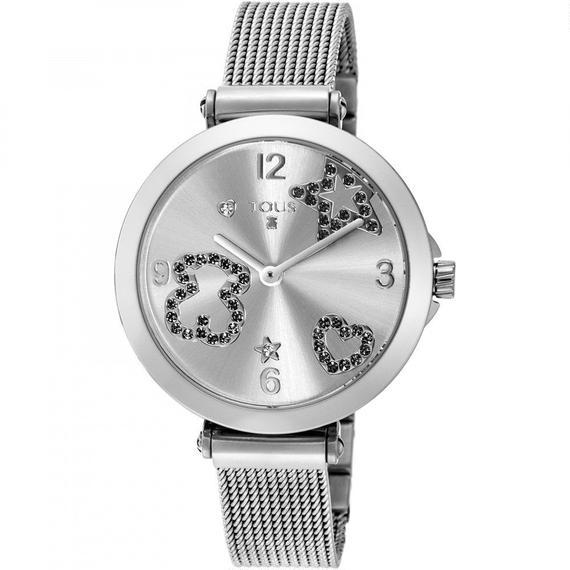 スピネルが付いたステンレス腕時計 Icon Mesh(600350380)
