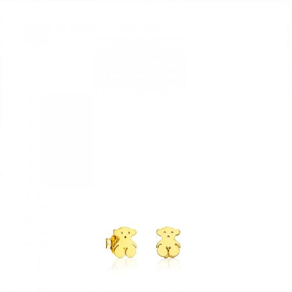 ゴールドのピアス TOUS Bear(611000110)