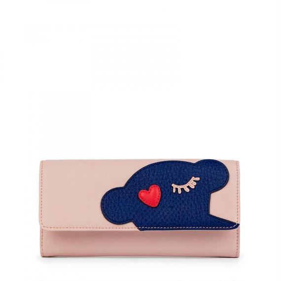 ピンクの中型ウォレット Patch Art (895960096)