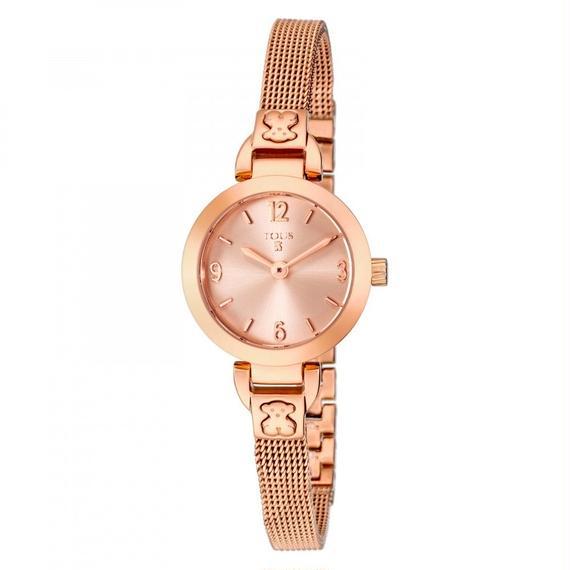 ピンクのステンレス IP 腕時計 Boheme Mini(400350140)