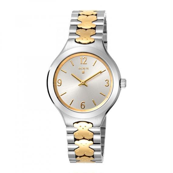 ゴールドのステンレス / IP バイカラー腕時計 New Praga(500350165)