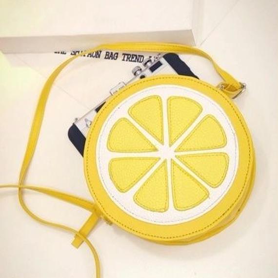 Yogodlns 個性的 レモンショルダーバッグ