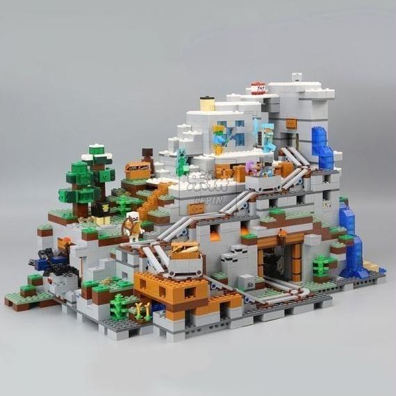 LEPIN社 2932ピース マインクラフト マイクラ 山の洞窟 MINECRAFT レゴブロック互換