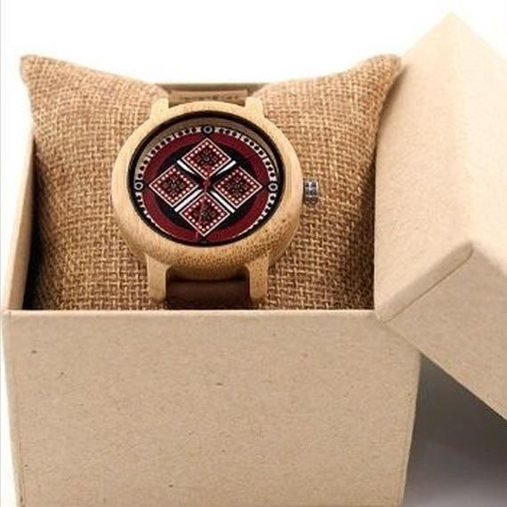 BOBO BIRD シンプル 竹製腕時計 レザーバンド クォーツ 木の温もり 自然に優しい天然木 スタイリッシュ  レディース時計