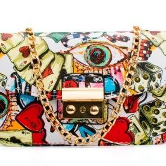 Ylqp 個性的 イラストショルダー、ハンドバッグ
