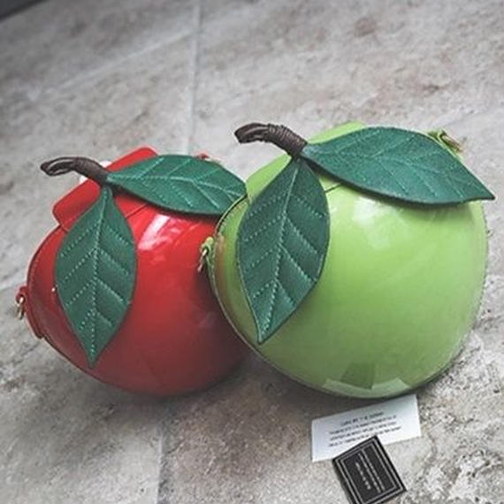 Yogodlns 個性的 リンゴショルダーバッグ