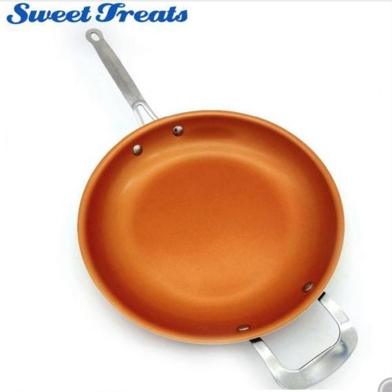 Sweettreats ノンスティックフライパン 銅 セラミックコーティング 12インチ