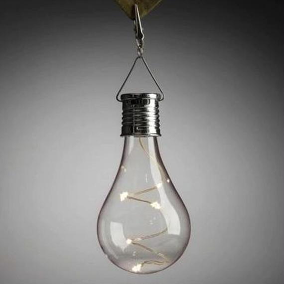 5個セット 電球型ソーラーライト 防水 おしゃれ インテリア 屋外 イルミネーション キャンプ