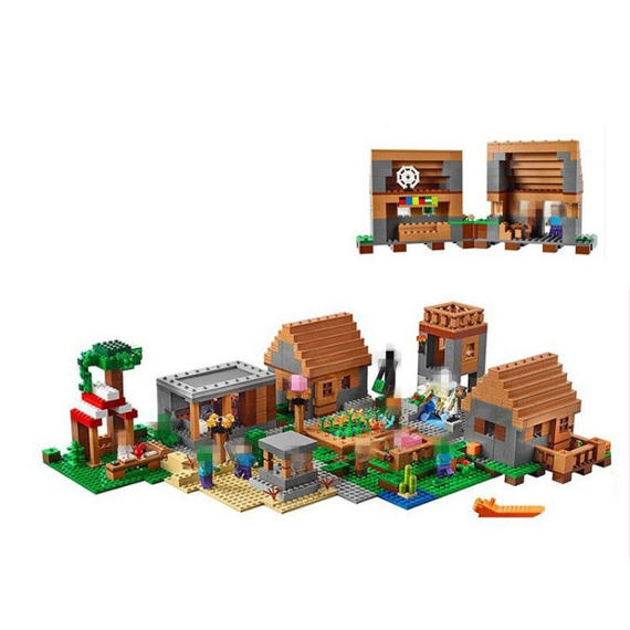 LEPIN社 1673ピース マインクラフト マイクラ 建築 村 Village マイクラシリーズ エンダーマン アレックス レゴブロック互換