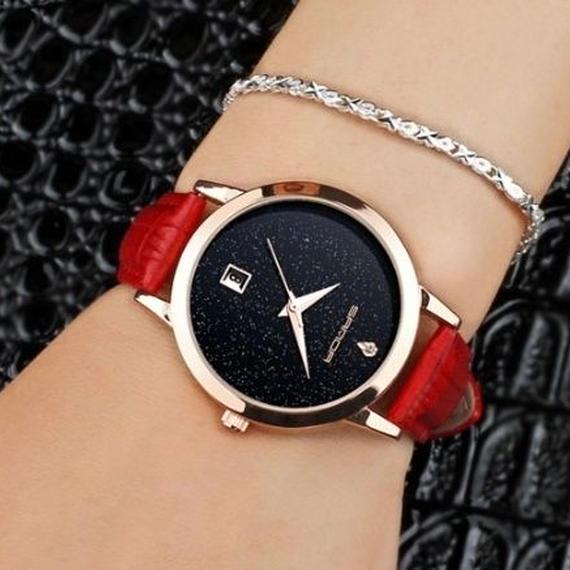 sanda 6色展開 クォーツ レディース 防水 レザーウォッチ ロマンチック 腕時計