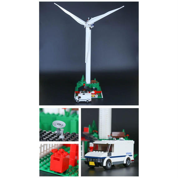 LEPIN社 873ピース WINDMILL 風力発電所キット レゴブロック互換