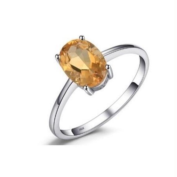 JewelryPalace 1.1ct ナチュラル 黄水晶リング