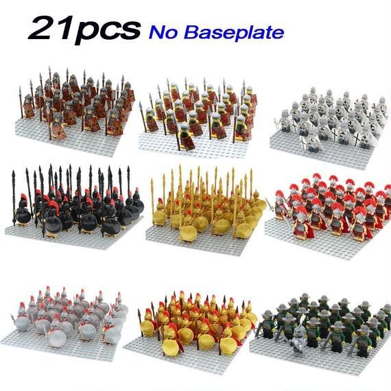 選べる9種 ミニフィグ21体セット  ローマコマンダー兵士シリーズ  レゴ互換性
