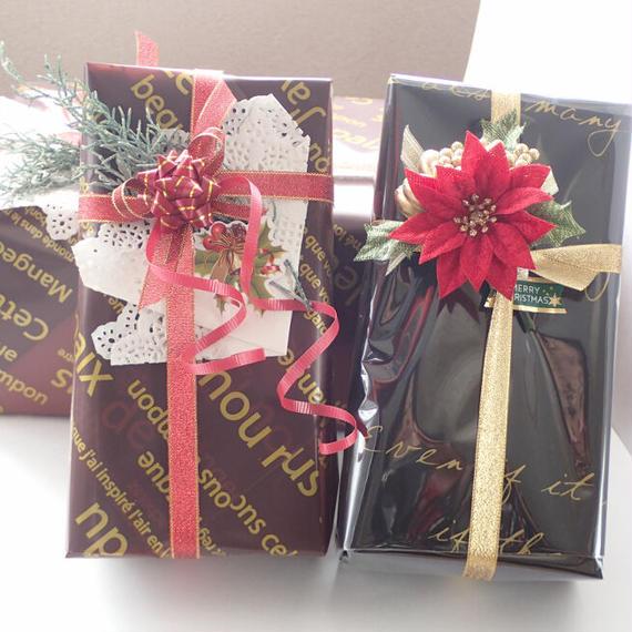 有料ギフトラッピング《クリスマスのプレゼントに♡》ゆうパック60サイズの配送のみ対応‼ ※他の商品と一緒に、ご購入ください。
