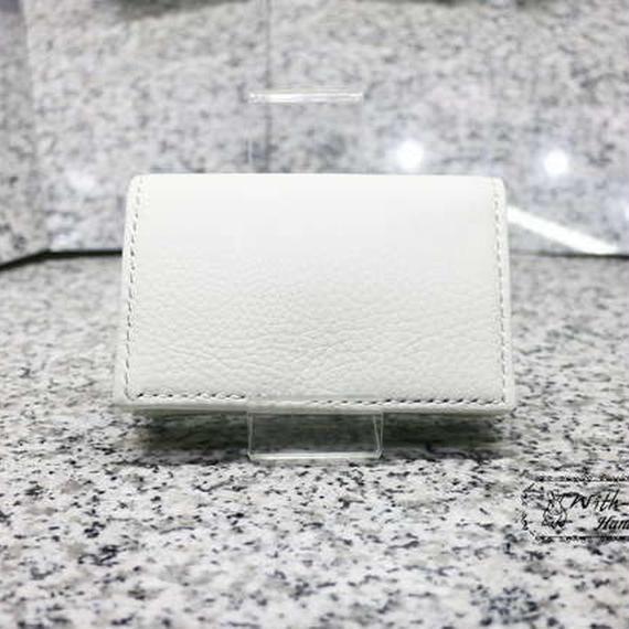 【再販×4】シンプル名刺入れ 国産牛革使用 ホワイト