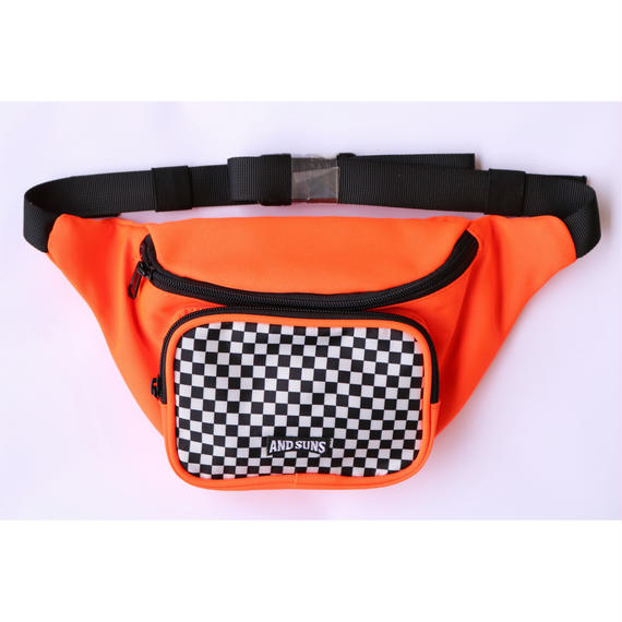 AS CHECKERED HIP BAG
