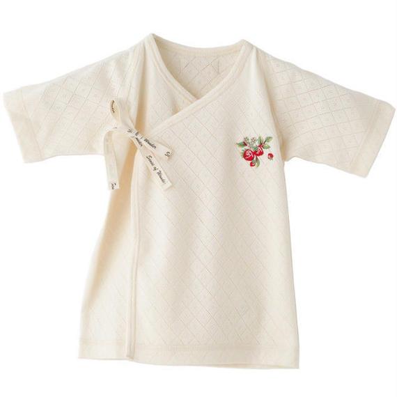 SENSE OF WONDER オーガニックコットン 日本製 野イチゴ 刺繍 短肌着