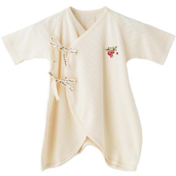 SENSE OF WONDER オーガニックコットン 日本製 野イチゴ 刺繍コンビ肌着