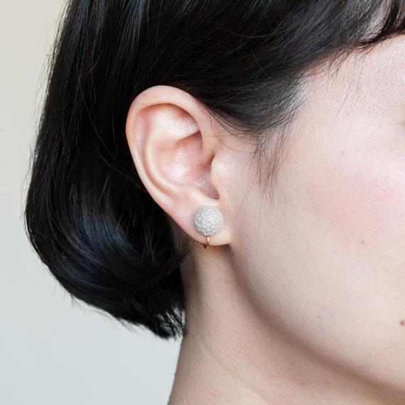 SILVER BRUNIA CLIP EARRINGS / E_SB1_S