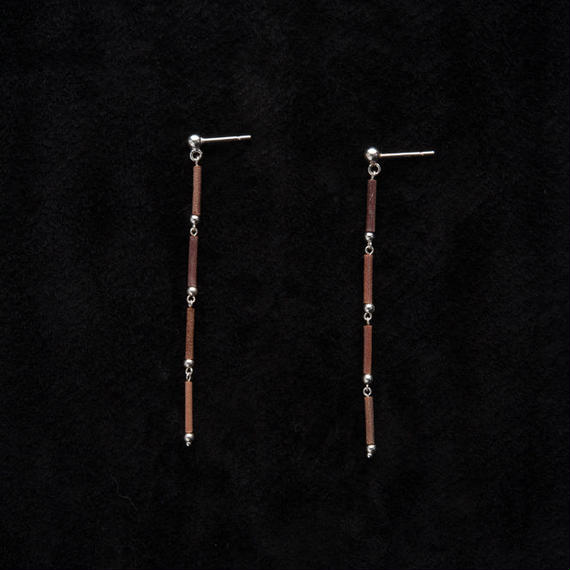 SILVER BEADS STRAIGHT 4 EARRINGS