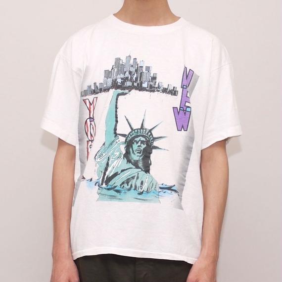 New York City 自由の女神 プリント Tシャツ