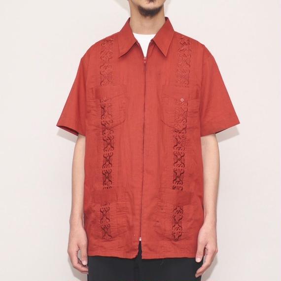ジップアップ  キューバシャツ  Vintage S/ S Cuba Shirt