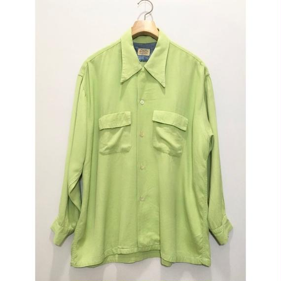 "50's""Nofade"" Open Collar Shirt"