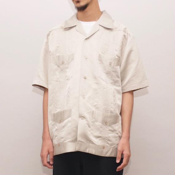 サテン キューバシャツ Vintage S/S Cuba Shirt