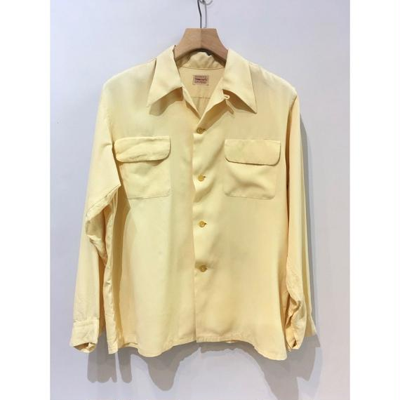 "50's ""TOWNCRAFT"" Rayon Open Collar Shirt"