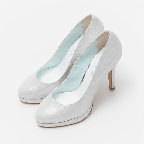 HIGH HEELED PLATFORM PUMPS - SILVER