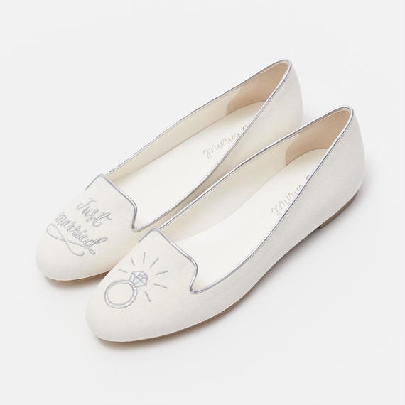 JUST MARRIED OPERA PUMPS  - SILVER