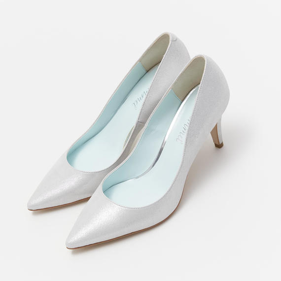 PLAIN POINTED PUMPS - SILVER