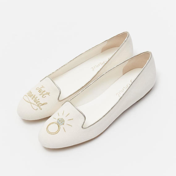 JUST MARRIED OPERA PUMPS  - GOLD