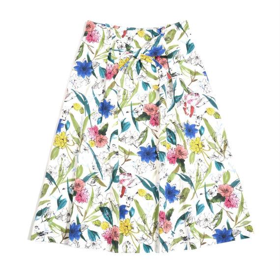 フラワープリント スカート(50-45109)