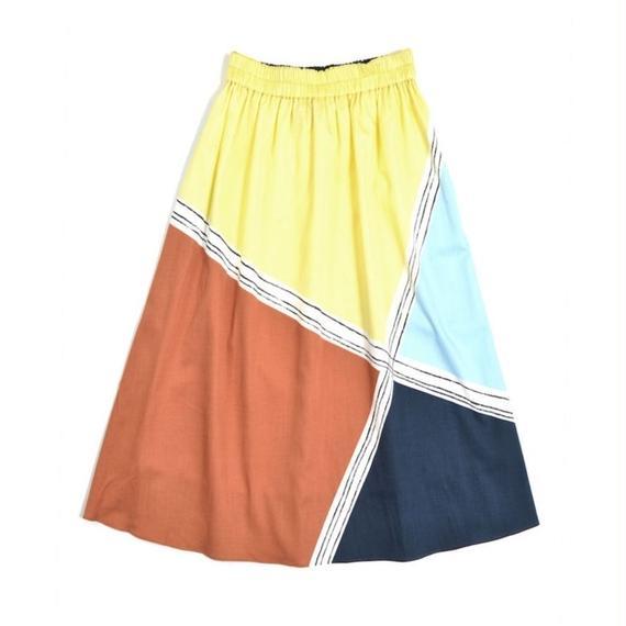 ブロックパネルプリントスカート(50-45110)