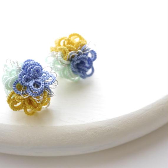 Petit Flower ピアス/mint mix