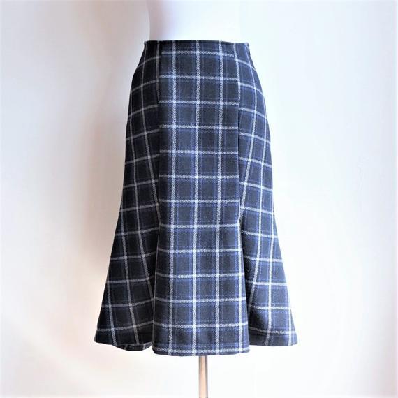 ウールマーメイドスカート/Check