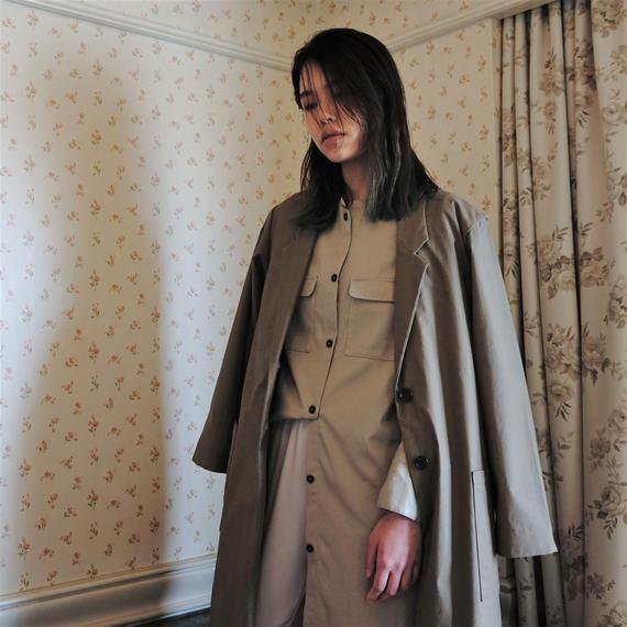 オーバーサイズジャケットコート