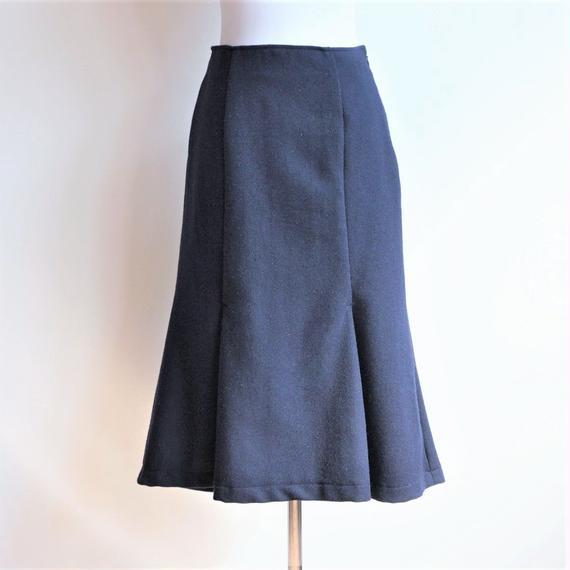 ウールマーメイドスカート/Navy