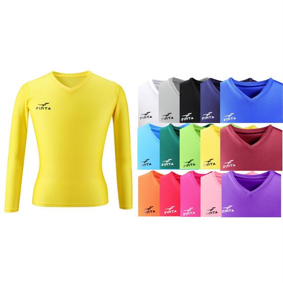 【お届けまで3〜4週間】FT5152ジュニアVネック長袖インナーシャツ 15カラー